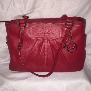 Red Coach Small Tote